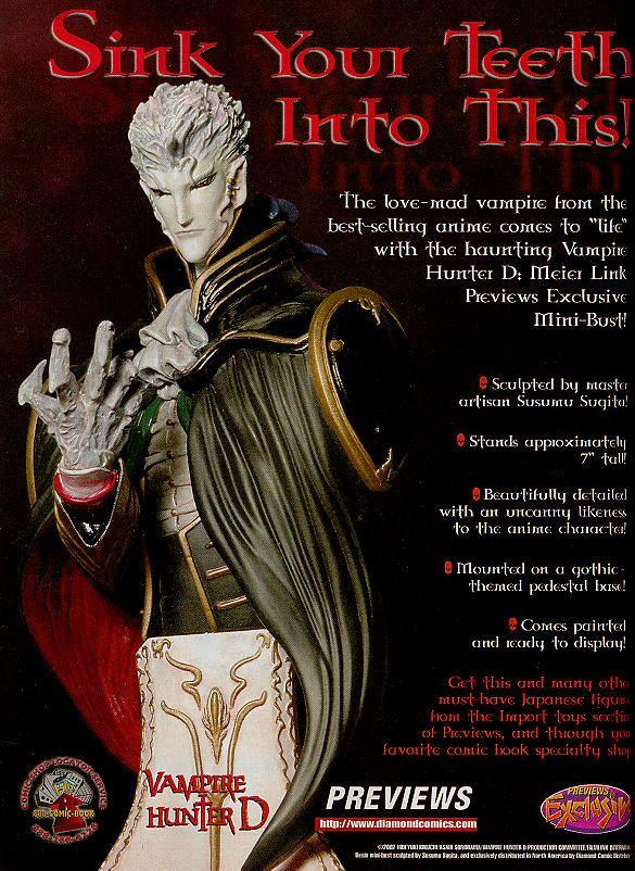 vampire hunter d merchandise new movie